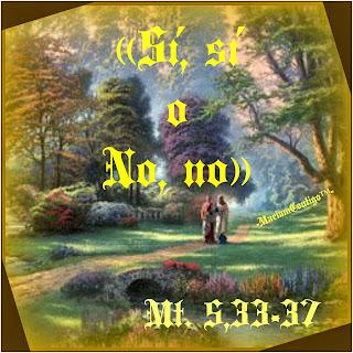 Resultado de imagen de Mt 5,33-37