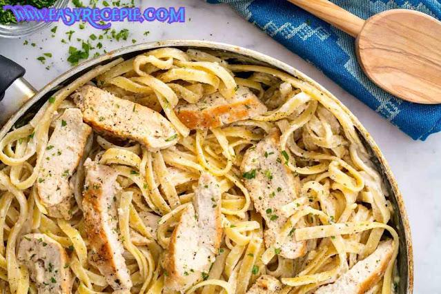 Easy and Delicious Chicken fettuccine alfredo recipe