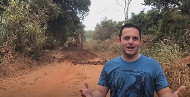 Nova Tebas: Prefeito visita obras de recuperação de estradas