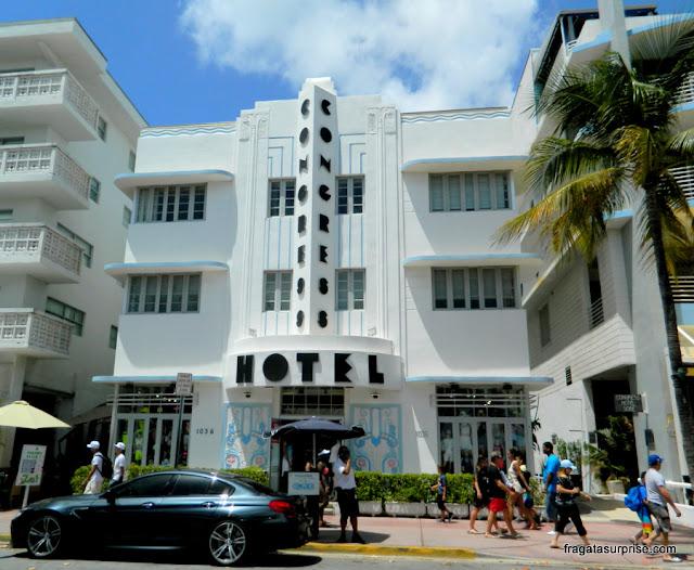 Congress Hotel, prédio art déco em South Beach, Miami Beach