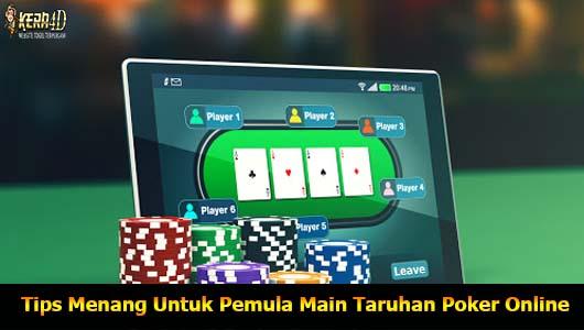 Tips Menang Untuk Pemula Main Taruhan Poker Online