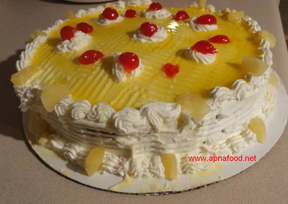 Fresh Cream Cake Recipe In Urdu