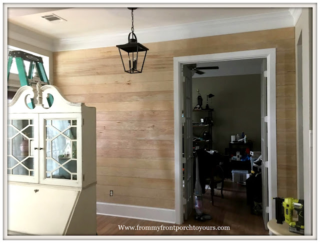 French Country Farmhouse Foyer-DIY-Shiplap-Makeover-From My Front Porch To Yours