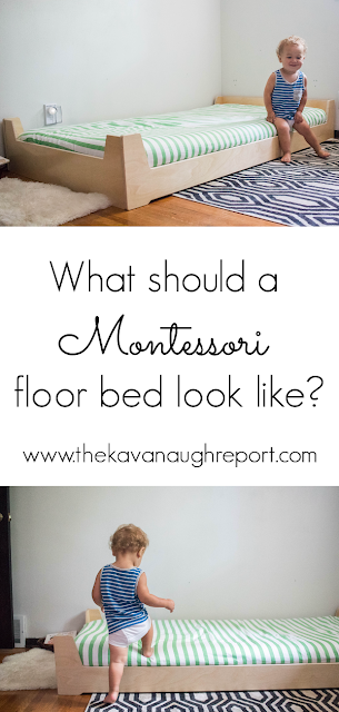 Here are some practical things to keep in mind when considering what your Montessori floor bed should look like