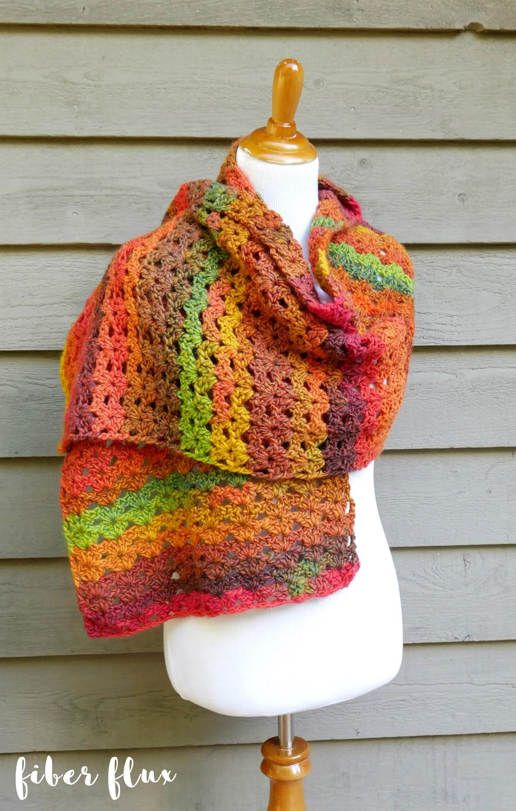 Fiber Flux: Free Crochet Pattern   Autumn Symphony Shawl!
