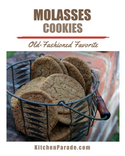 Molasses Cookies ♥ KitchenParade.com, my favorite recipe for classic molasses cookies, make them soft, chewy or crisp, your choice.
