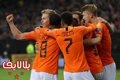 مشاهدة مباراة هولندا وإستونيا بث مباشر اليوم 9-9-2019 في تصفيات اليورو 2020