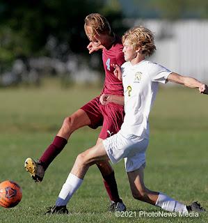 Garrett Siems passes the ball