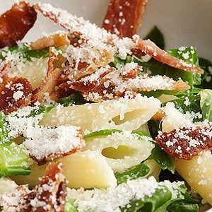 """<img src=""""pasta-con-jamón-y-queso-parmesano.jpg"""" alt=""""es una receta fácil de preparar para el almuerzo del cuarto o quinto nivel de la dieta Atkins"""">"""