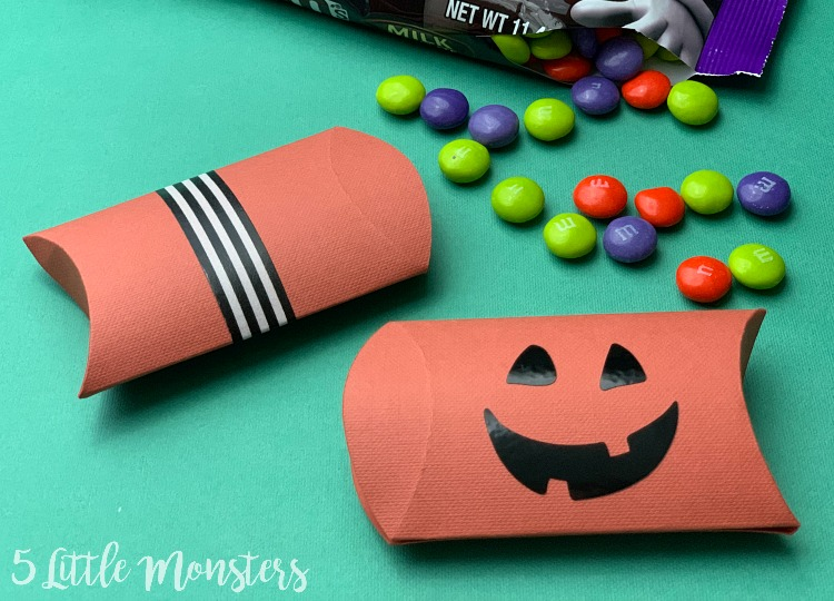 Mod Dots Halloween Printable Pillow Boxes Set of 4