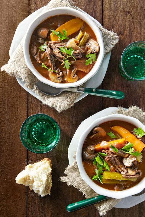 Slow-Cooker Rødvin Beef Stew