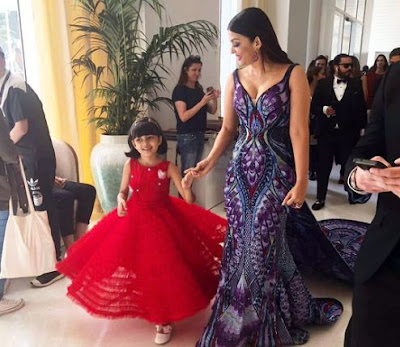 Aishwarya Rai At Cannes Film Festival With Daughter