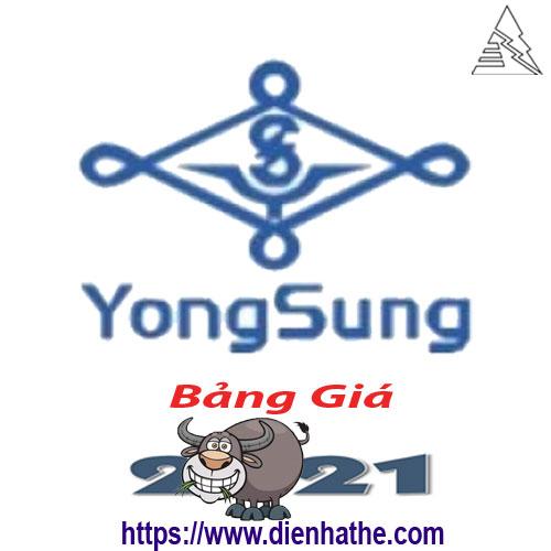 Bảng Giá Thiết Bị Điện Yongsung 2021