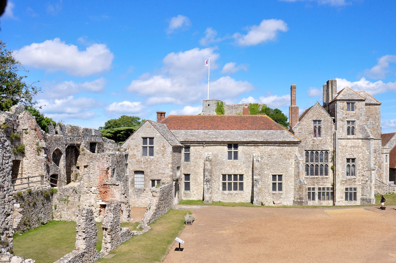 Inside the castle, Carisbrook Castle, Isle of Wight, UK