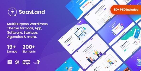 Download SaasLand v2.2.5 – MultiPurpose Theme for Saas & Startup