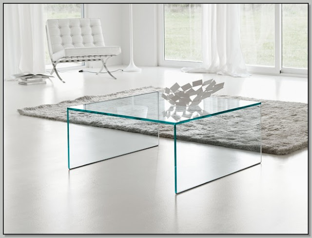 Small Square Acrylic Coffee Table