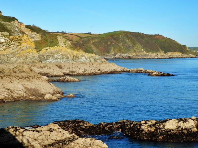 Coastline looking from Mevagissey harbour walls