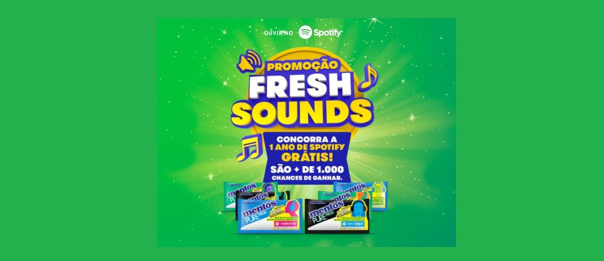 Participar Promoção Mentos 1 Ano Spotify Grátis Assinatira Premium 2021 - Fresh Sounds