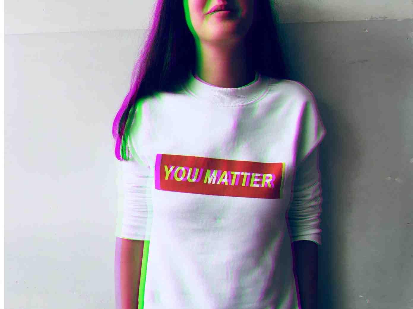 you matter woman t-shirt