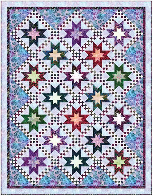 Country Flowers Quilt Free Pattern Designed by Elise Lea for Robert Kaufman