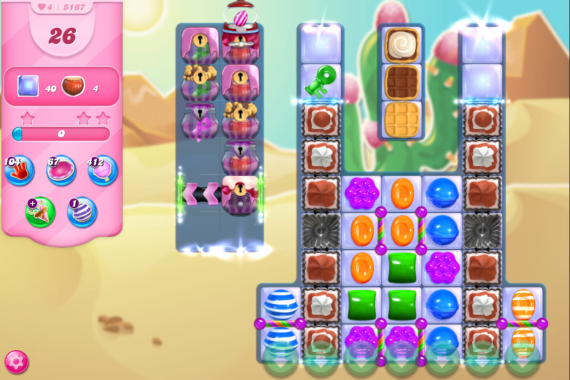 Candy Crush Saga level 5167