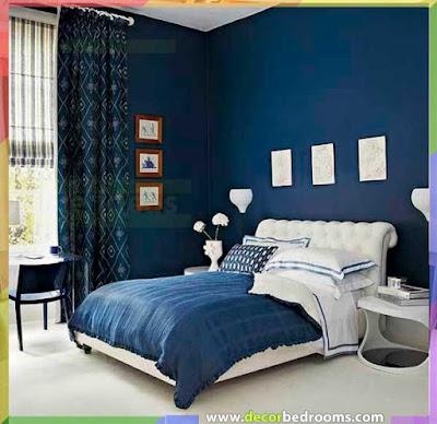 لون أزرق داكن من أجل نوم مريح