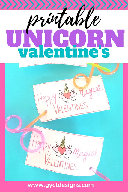 For a quick and easy valentine grab this free printable unicorn valentine and simply add a fun straw or pencil
