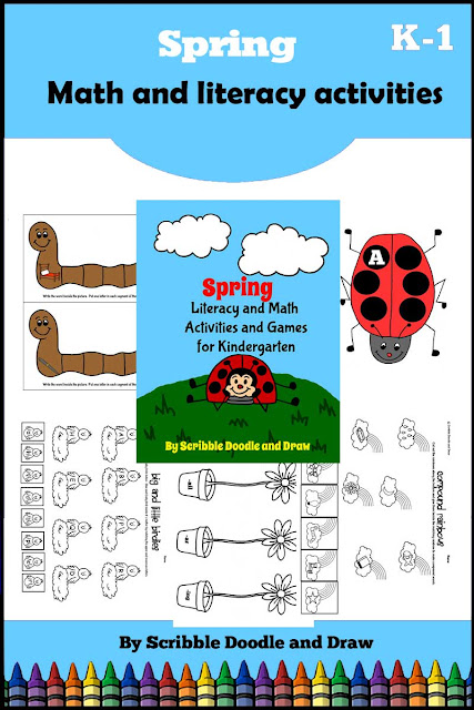 Spring unit with math and literacy activities for kindergarten
