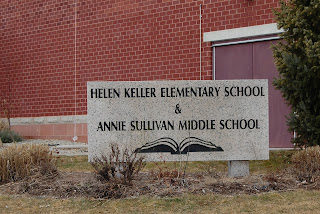 Helen Keller Elementary School sign