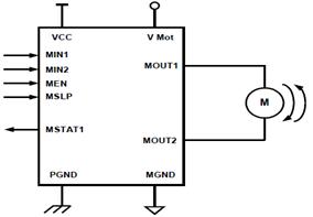 h bridge module for DC motor circuit design