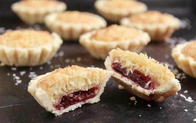 Strawberry Coconut Tarts #cake #desserts