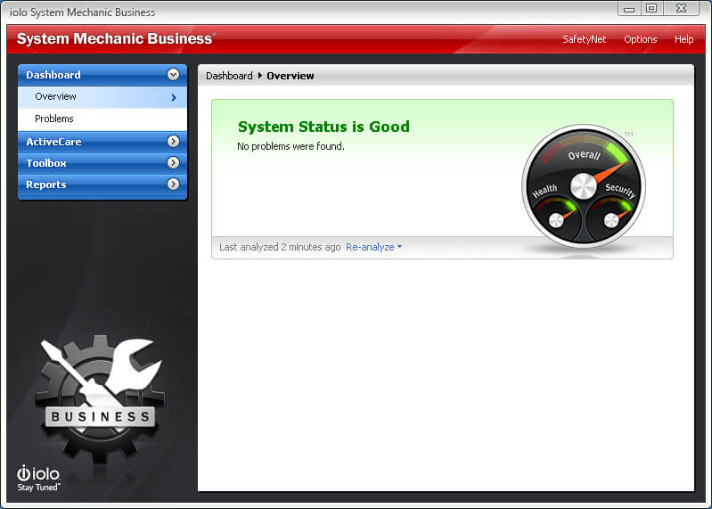 System Mechanic Business Overview Screenshot
