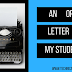 An Open Letter to MY Students