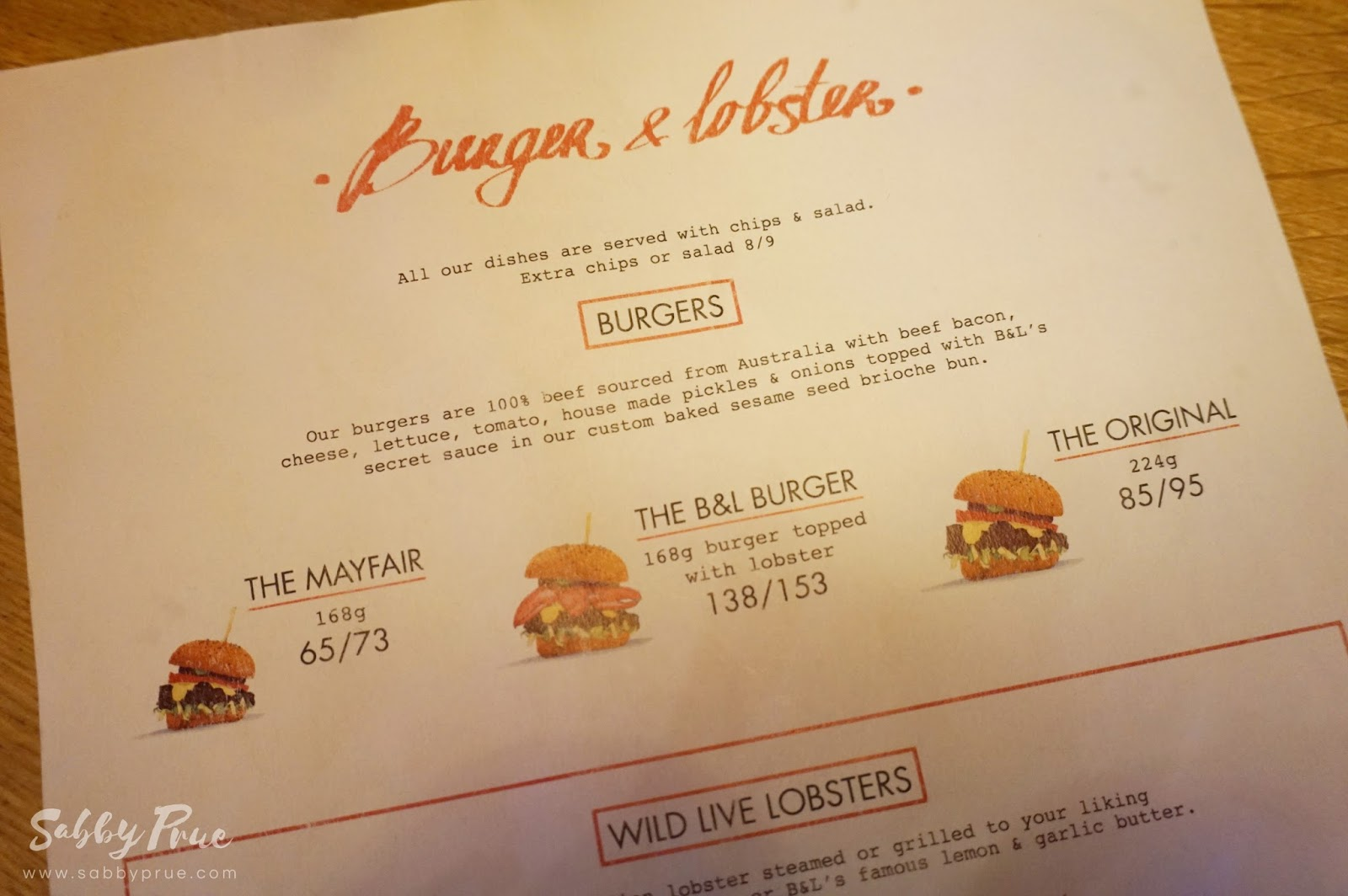 Lifestyle Food Review Burger Lobster Malaysia Sabby Prue Wardah Roll On For Him Ive Been Wanting To Try The So That Is What Im Getting All Of Menu Comes With A Side Fries And Salad Except Chilli