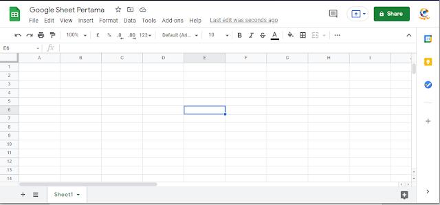 cara membuat google sheet