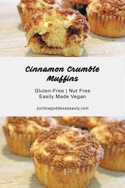 Cinnamon Crumble Muffins Recipe | Gluten-Free | By ZombieGoddess Beauty