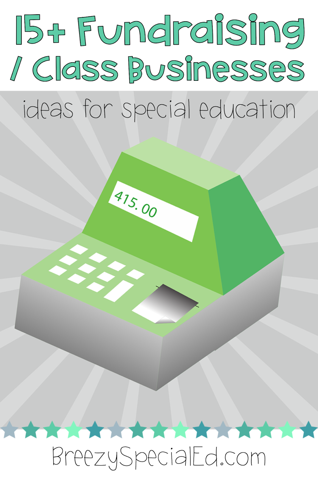 Class business and fundraising ideas for Special Education life skill classes