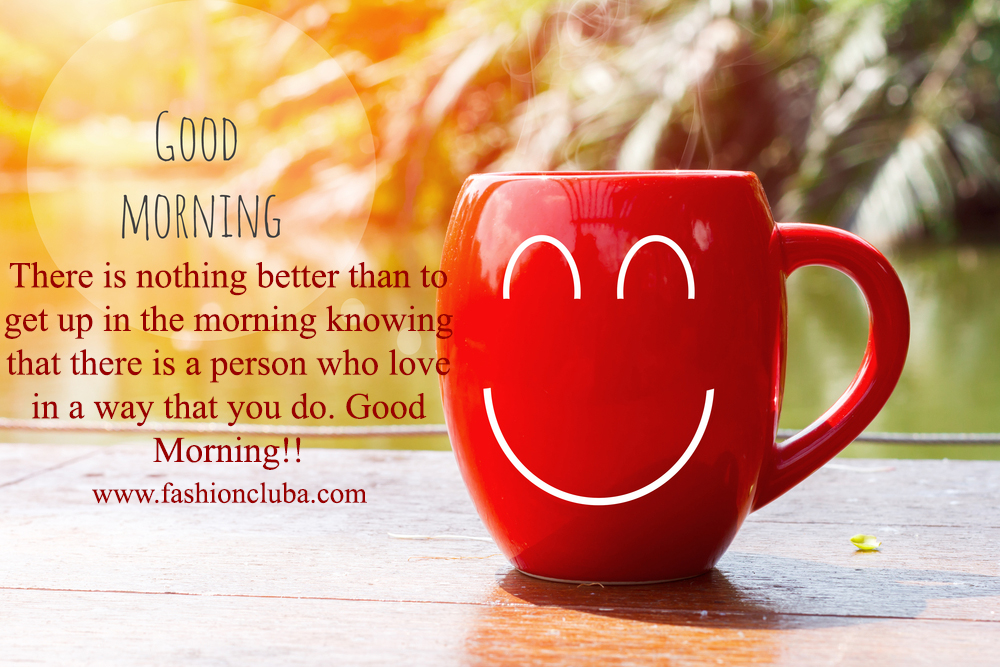 Top good morning love quotes messages with pictures for friends red coffee cup empty front porch the morning good morning or have a happy day m4hsunfo