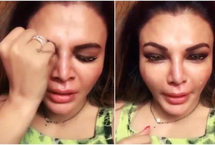 rakhi sawant post crying videos
