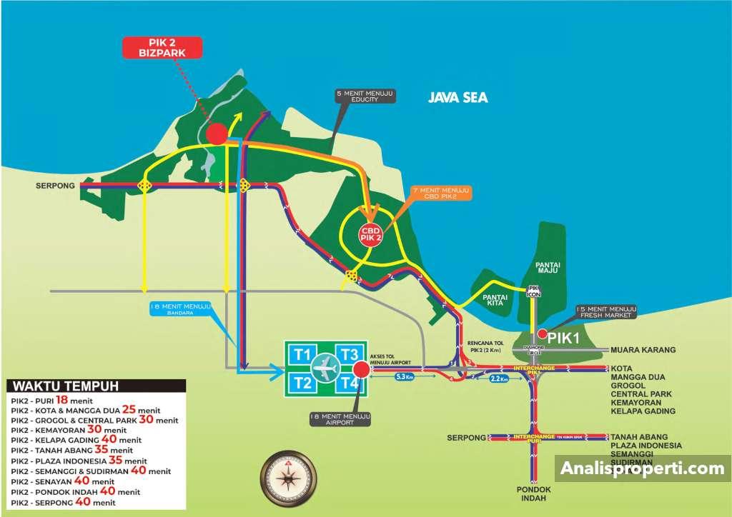 Peta Lokasi Bizpark PIK 2 Jakarta