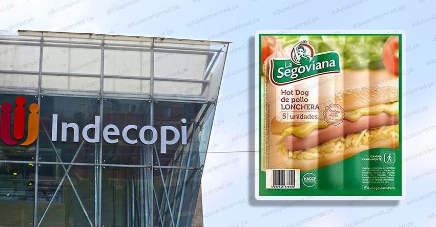 INDECOPI ordena modificar falsa etiqueta «Hot dog de pollo» de la marca La Segoviana, cuyo ingrediente es carne de cerdo, agua, fécula de maíz y carne de pollo