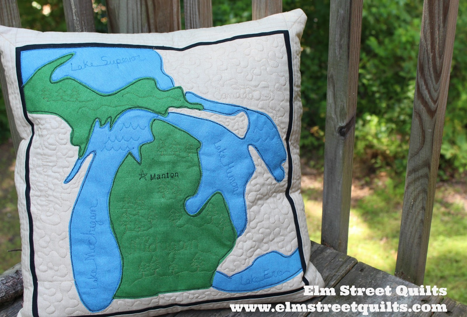 State map applique a tutorial elm street quilts i made a thank you gift for my sister celebrating a state they love to visit gumiabroncs Image collections