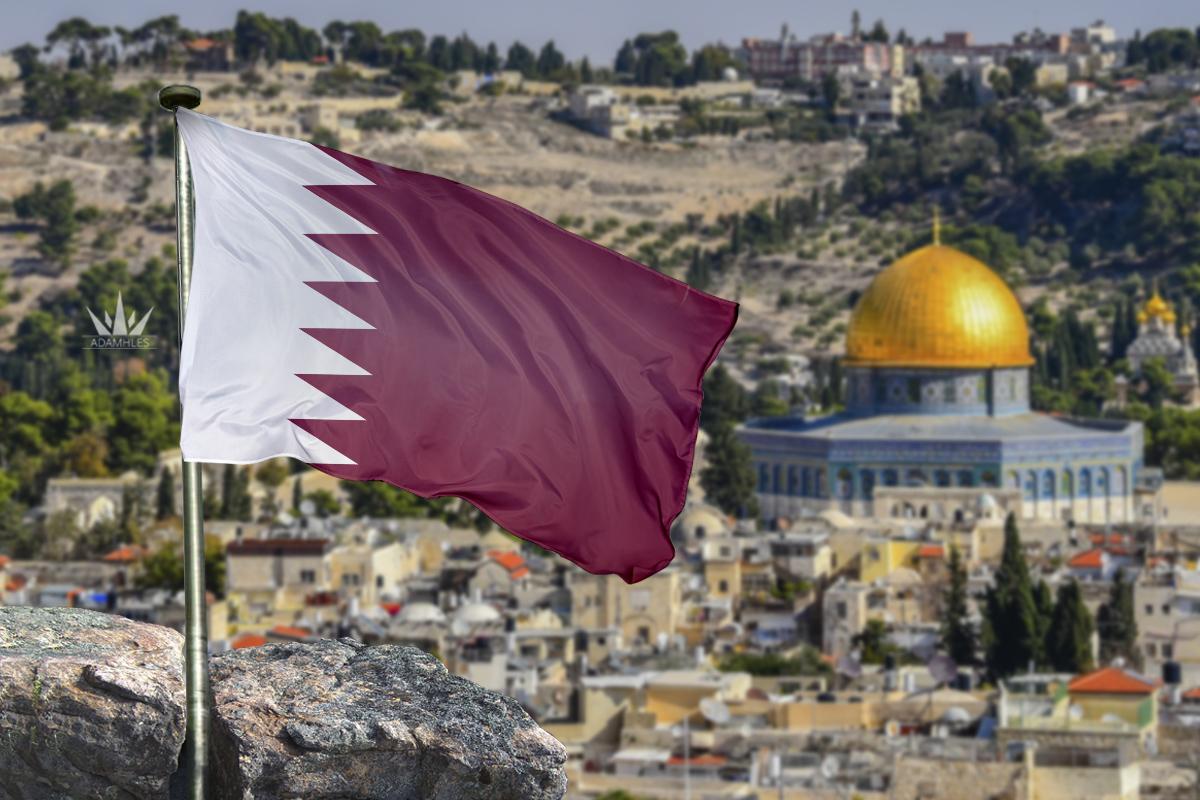 علم قطر في القدس اجمل خلفيات قطر Flag of Qatar in Jerusalem
