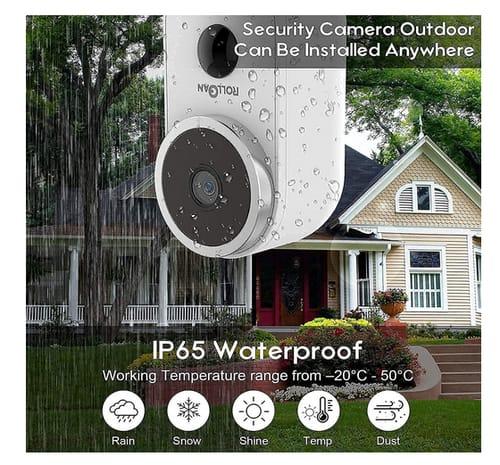 ROLLGAN Solar Powered 1080P HD Smart Security Camera