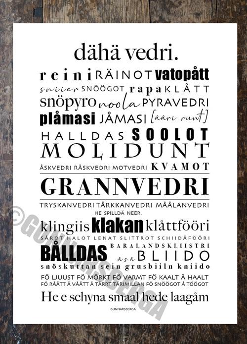 dialektposter, dialekttavla, dialekt, österbotten,