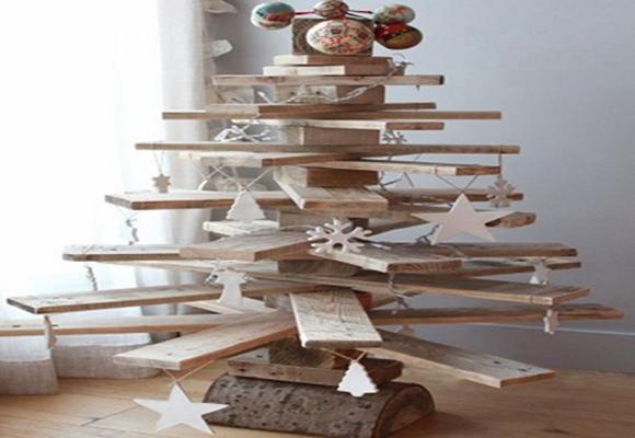 Natal-árvore-de-madeira