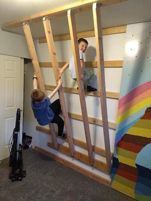 diy indoor rock wall children