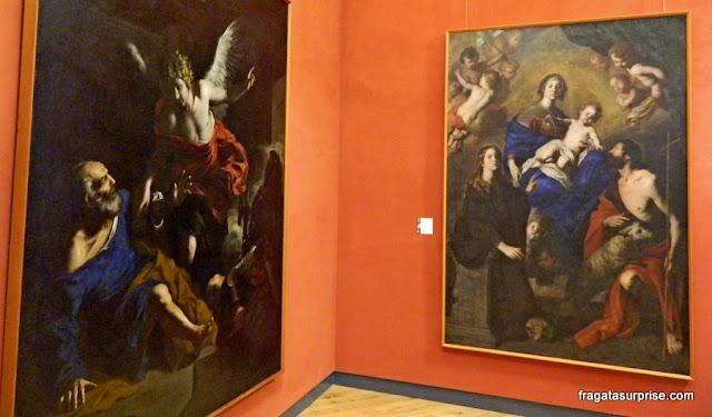 Galeria barroca no Palácio Abatellis de Palermo