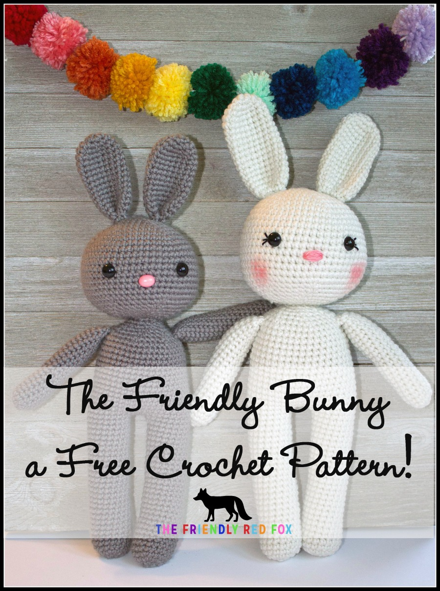 Free crochet pattern: Tiny bunny with straight or floppy ears | 1207x900
