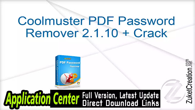 Coolmuster PDF Password Remover 2.1.10 + Crack